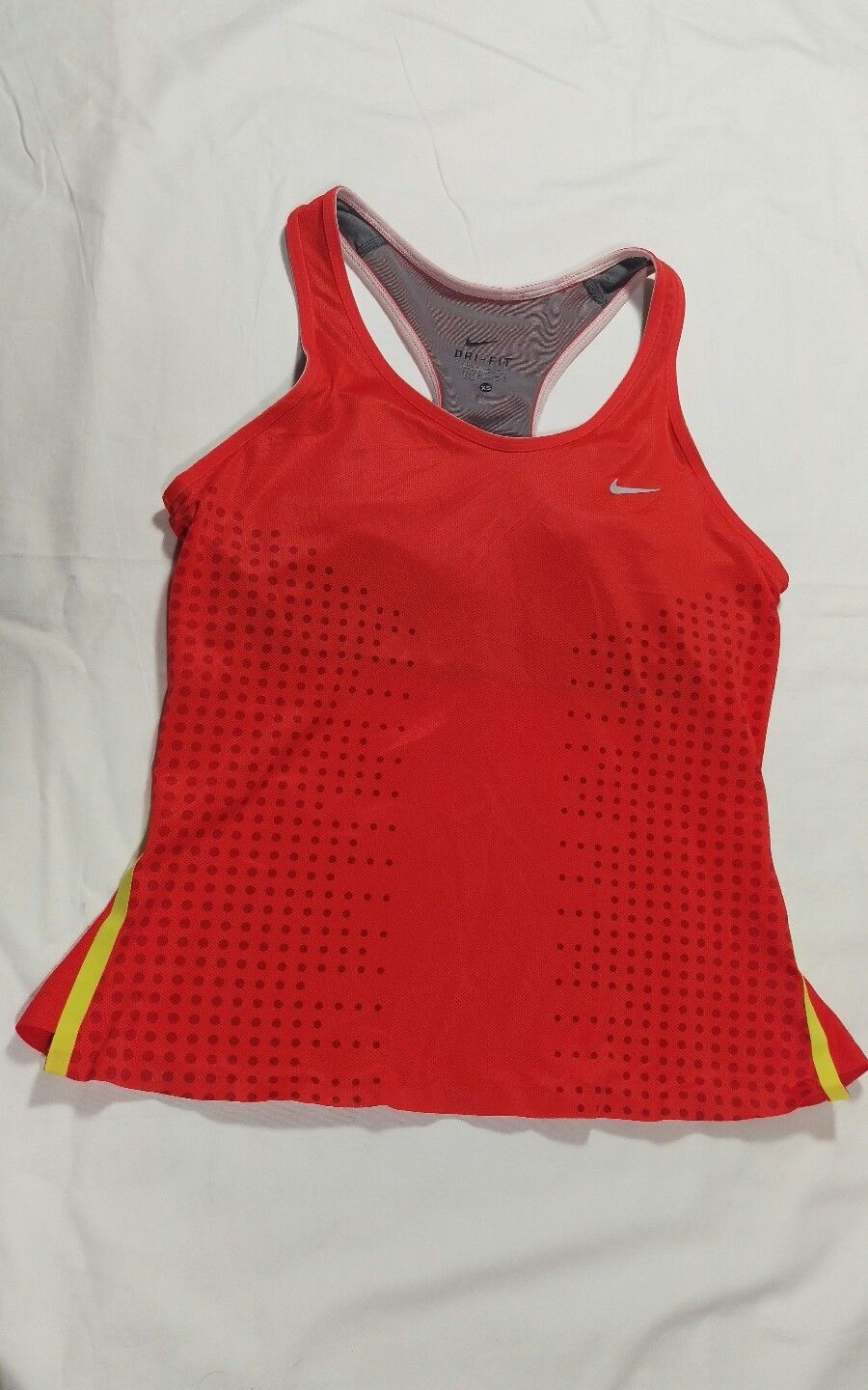 813fd1acce81b Nike Dri-Fit Womens Workout   Running Tank Top Built In Bra Bright Red XS (F )