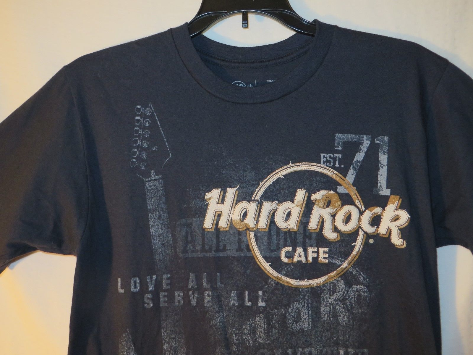 Men Hard Rock Cafe Mens T Shirt Small Las Vegas Navy