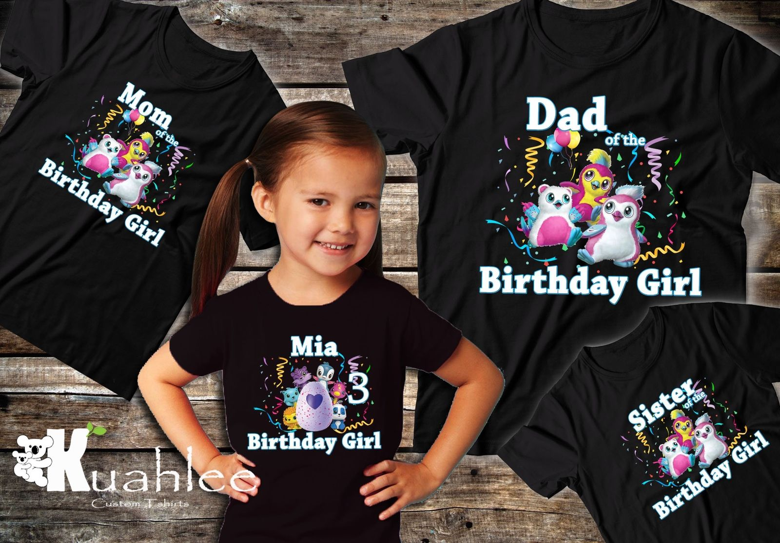 Birthday Boy Girl Personalized Family Party Shirts Xmas