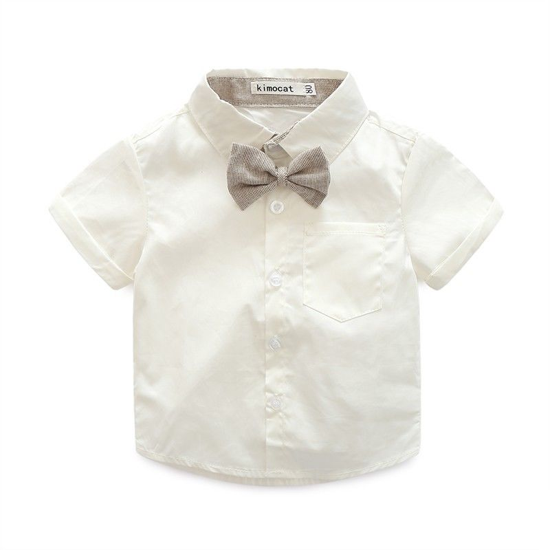 832c18947 Kids – Baby Boy Girls Wedding Formal Suit Bowtie Gentleman Romper ...
