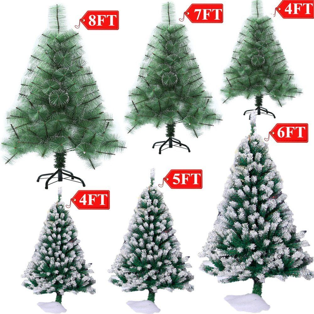 Kids – 4 FT~8 FT Artificial PVC Christmas Tree W/Stand Holiday ...