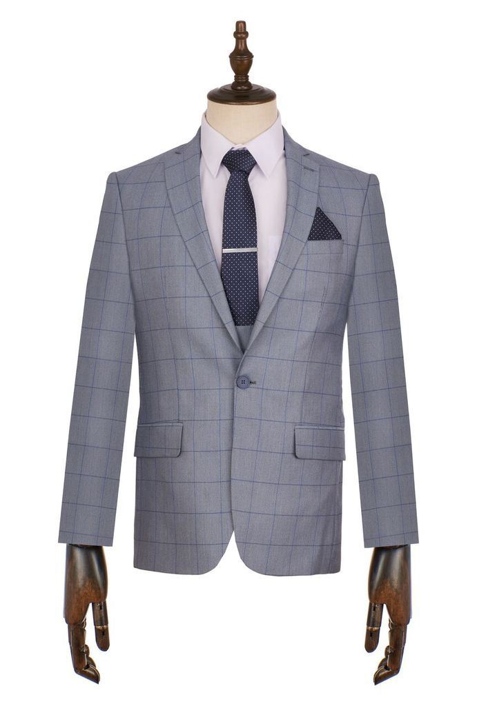 Kids Toni Floretti 3pc Conner Check Occasions Wedding Suit Mens