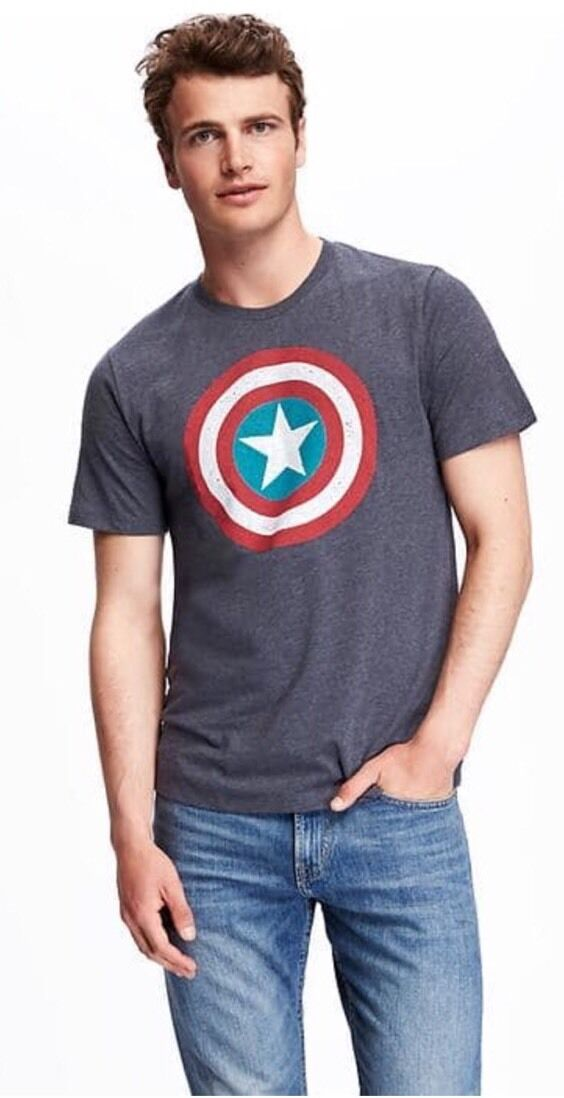 Men Old Navy Marvel Captain America Graphic Tee For Men Nwt Xxl